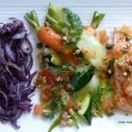 Saumon aux légumes printaniers