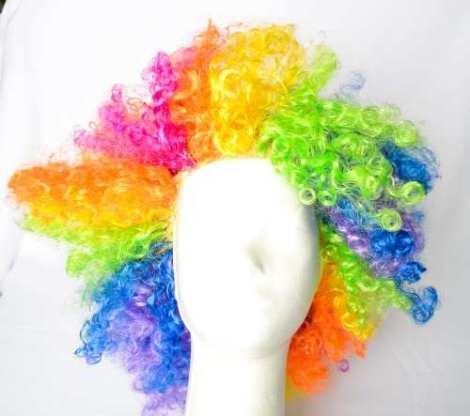 Peluca Afro Multicolor