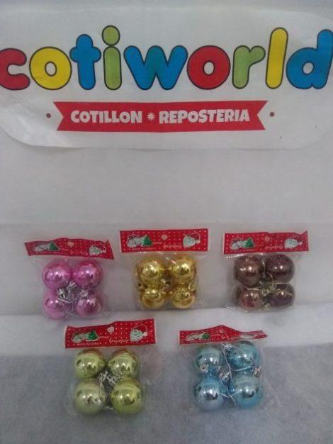 Bolas metalizadas pequenas x4 unidades