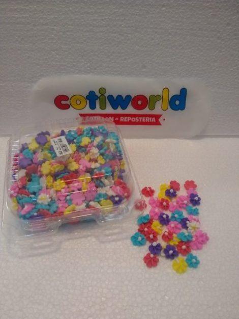 Caja flores medianas de pastillaje x600 unid.