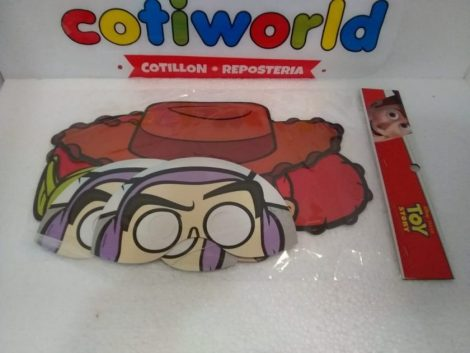 Antifaz de los personajes de Toy Story x10unidades