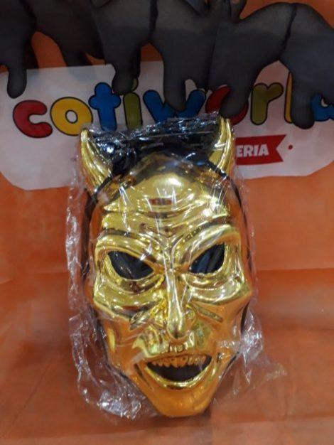 Mascara de diablo con capucha