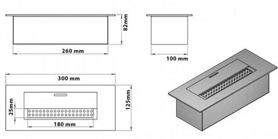 конструкция топливного блока биокамина