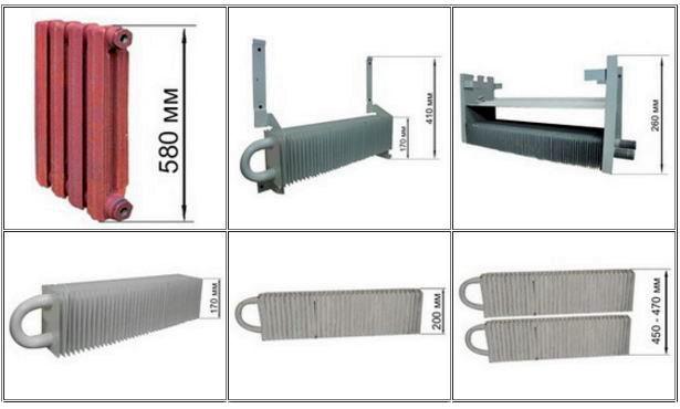 отопительные приборы стандартного ряда