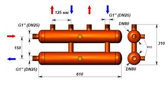 конструкция самодельной гребенки для системы отопления
