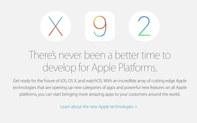 Apple Developer Program - OS X / iOS / watchOS