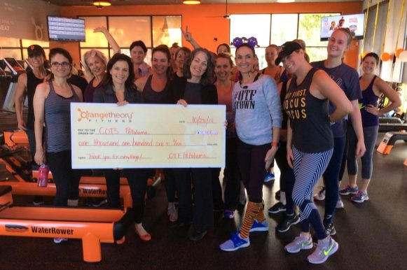 Orange Theory was just one of the many gyms who raised funds for COTS this year. Thanks to Orange Theory, Kaia Fit, Crossfit 38 Degrees North, Luma Fitness and Vertex Climbing Center.