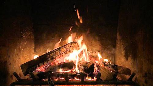 log-fire