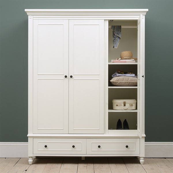 malmesbury paintedtriple wardrobe