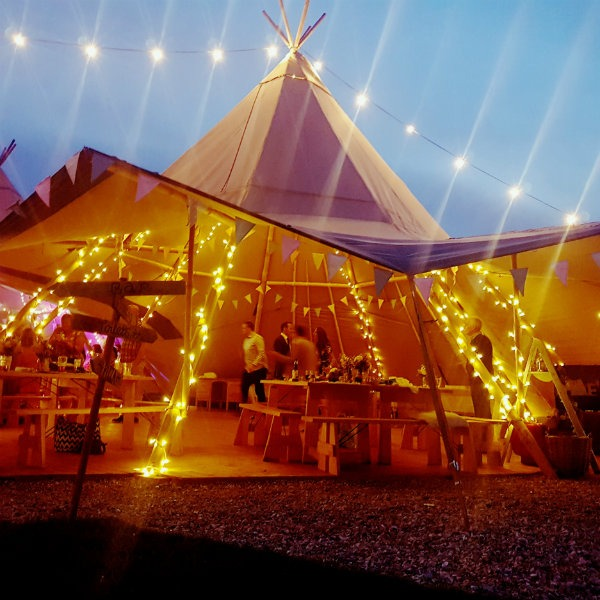 Cotswold Tipis Corporate Events and Parties Outdoor Fairy Lights