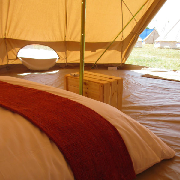 Interior of Cotswold Tipis Bell Tent
