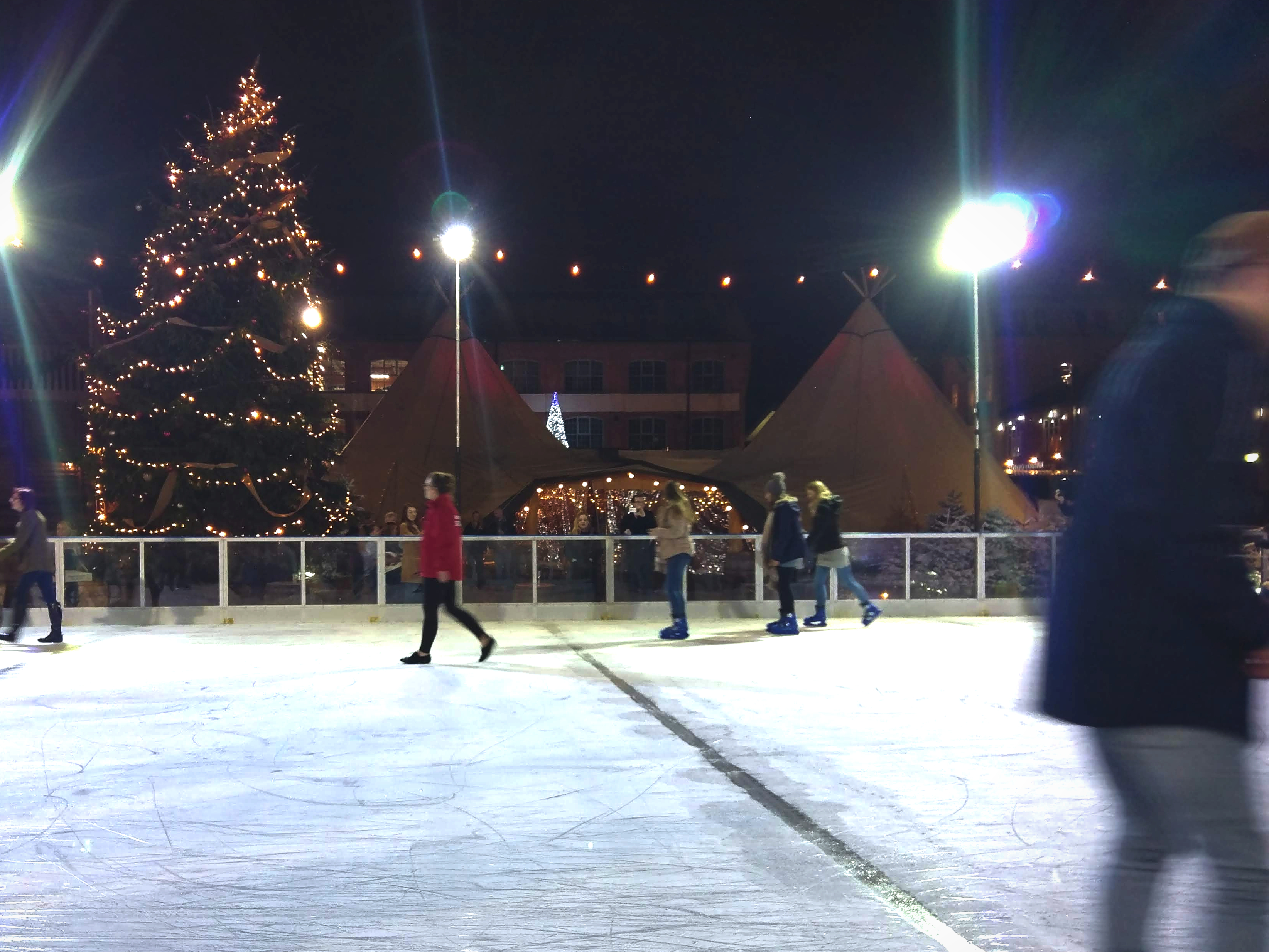 Ice Rink and tipis at the Gloucester Quays Christmas Markets 2018