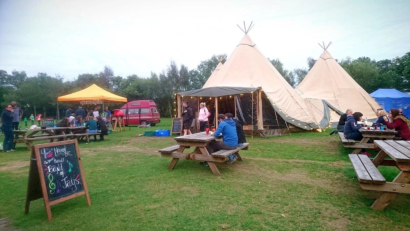 Cotswold Tipis at Edinburgh Festival Camping 2018