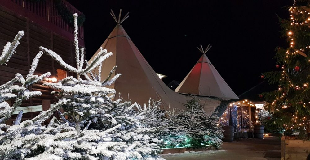 Christmas Markets Hard Standing Tipi - Cotswolds Tipis