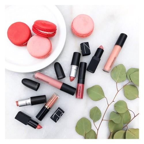 pink, nude, mauve lipstick shades