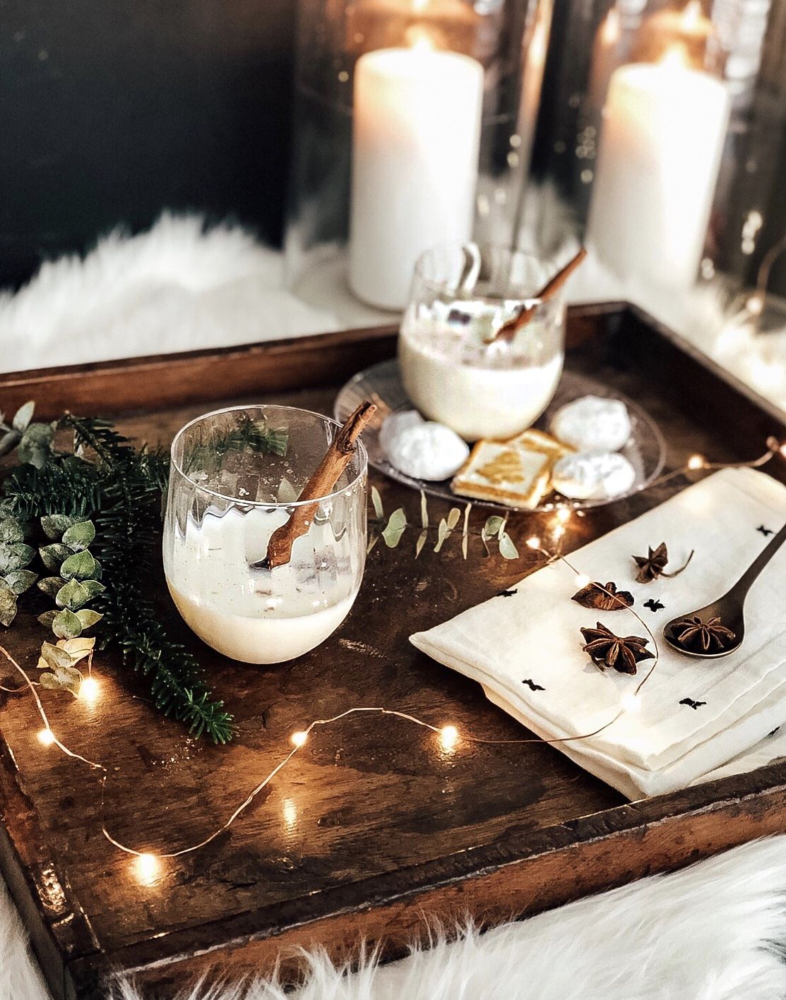 spiced white hot chocolate with vodka