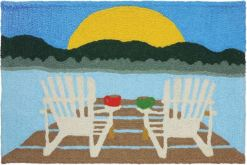 jellybean rug sunrise at the lake design