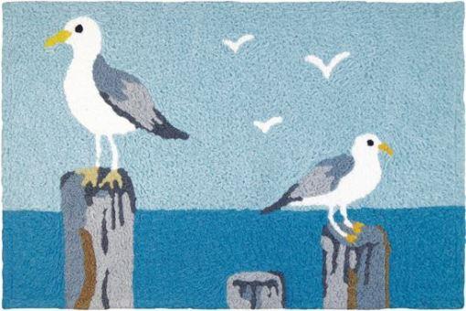 perched gulls jellybean rug