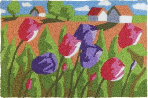 tulip field jellybean rug