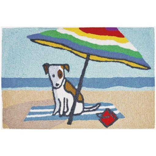 jellybean rug with beach bum dog