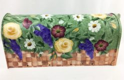 hand painted mailbox flowers in a basket