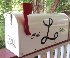 custom hand painted personalized mailbox