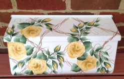 hand painted mailbox yellow rose trellis