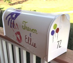 front cover of UP inspired hand painted mailbox