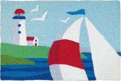 jellybean rug nautical guardian light lighthouse design