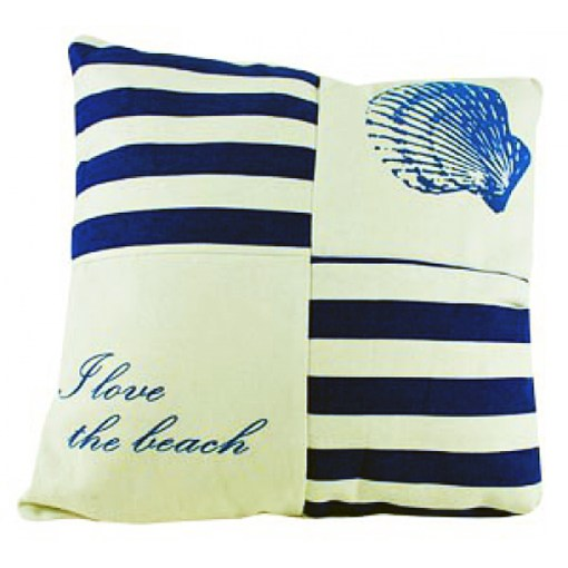 beach with seashell I love the beach pillow