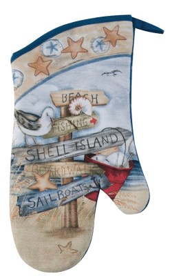 nautical design beach signs oven mit pot holder