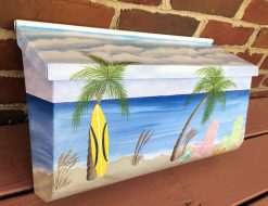 hand painted wall mount mailbox