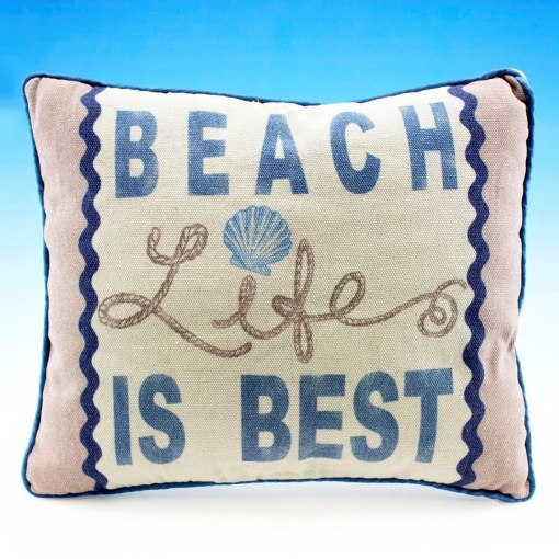 nautical beach life is best pillow
