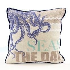 nautical octopus seas the day pillow