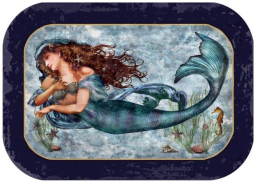 mermaid food safe tray blue