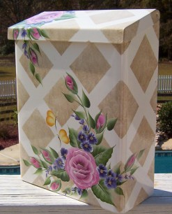 hand painted mailbox flowers butterflies