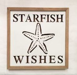 lighted starfish sign plaque