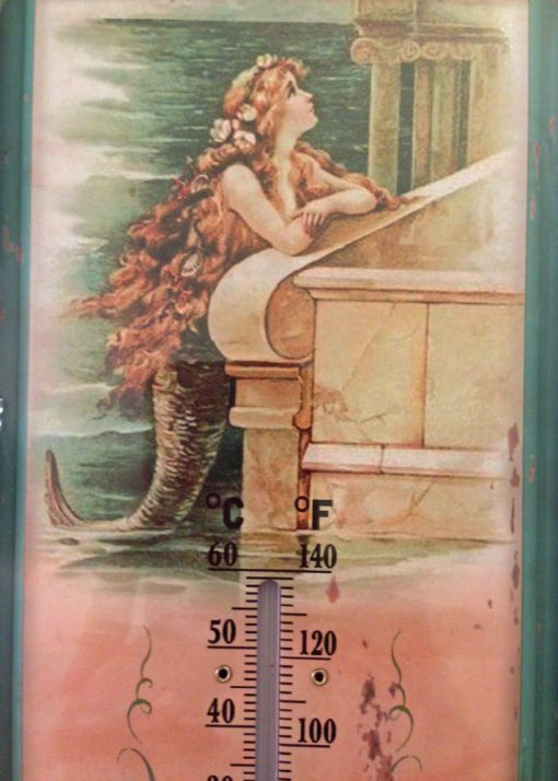 mermaid thermometer close up pic