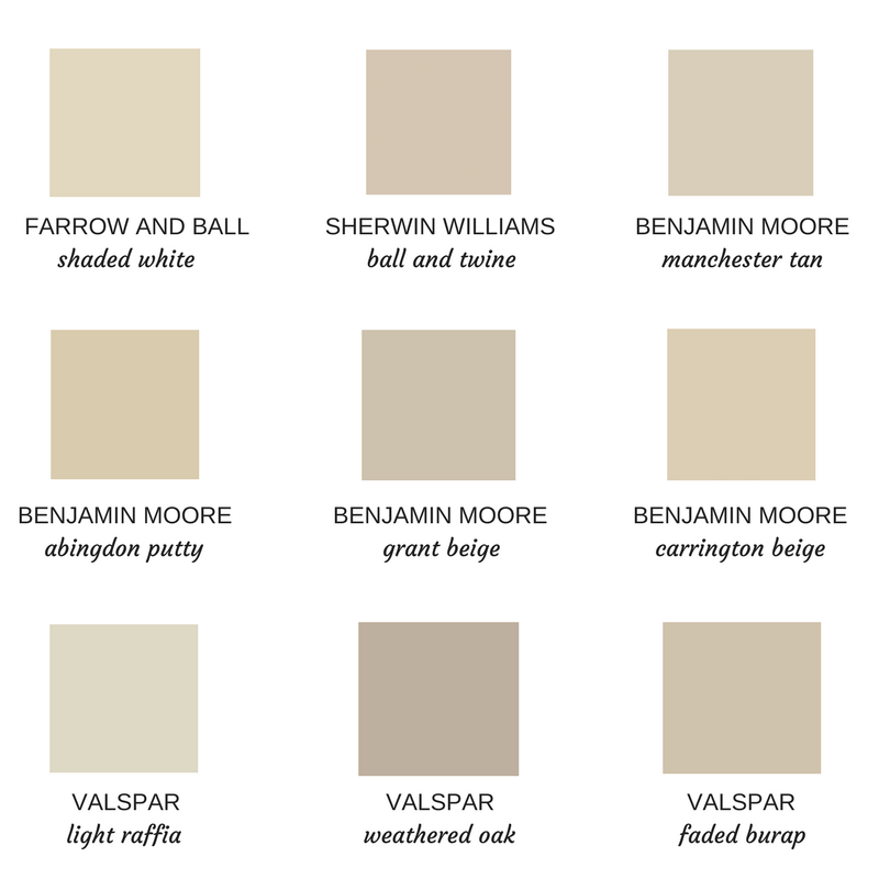 The Best Neutral Putty Paint Colors Cottage And Vine