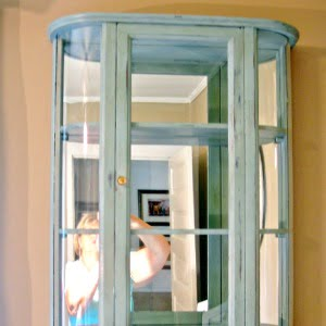 Perfume Bottle Cabinet Makeover  Cottage at the Crossroads
