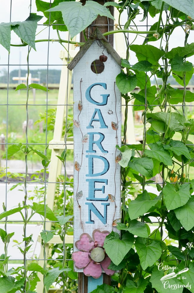 Garden sign | Cottage at the Crossroads
