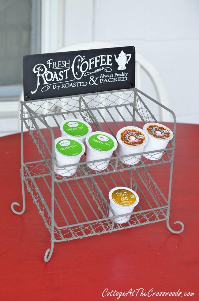 cutest k cup storage rack ever