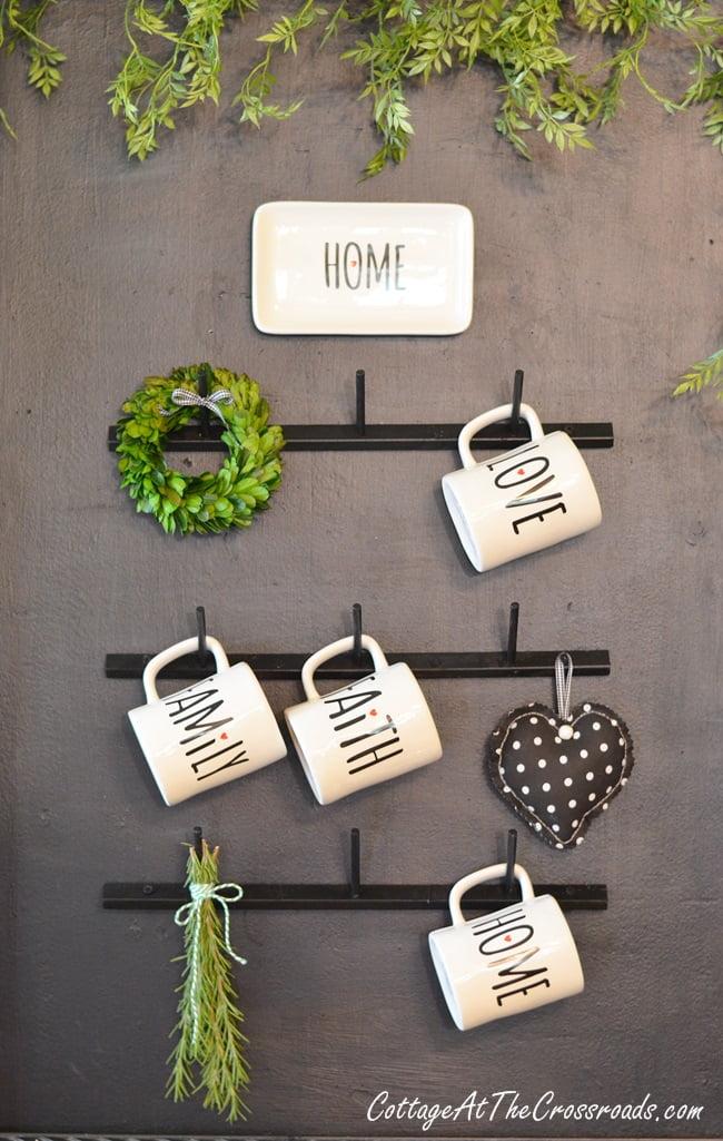 diy farmhouse style mug rack cottage