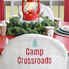 Christmas Folding Chair Covers Pedestal Swivel How To Make Cottage At The Crossroads