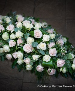 Pastel Rose Casket Spray