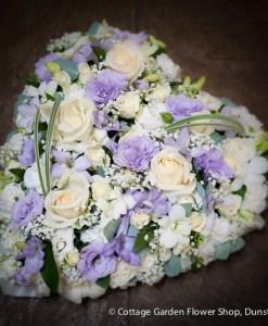 Lilac & Cream Pastel Heart