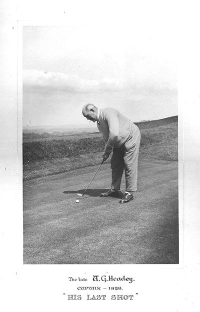 Dunstable Downs Golf Club Captain 1929