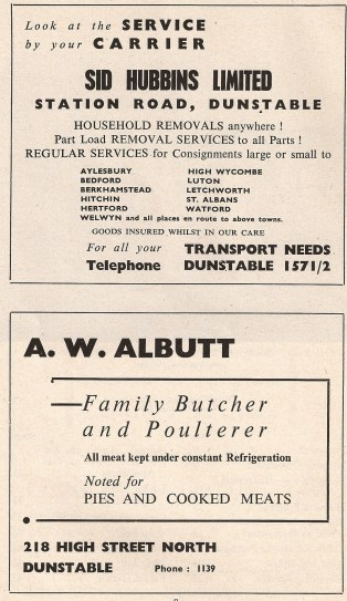 Sid Hubbins Removals and Albutt Butchers of Dunstable