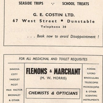 Costin's Coaches & Flemons & Marchant Chemists and Opticians
