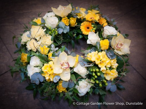 Woodland Wreath In Yellows & Creams